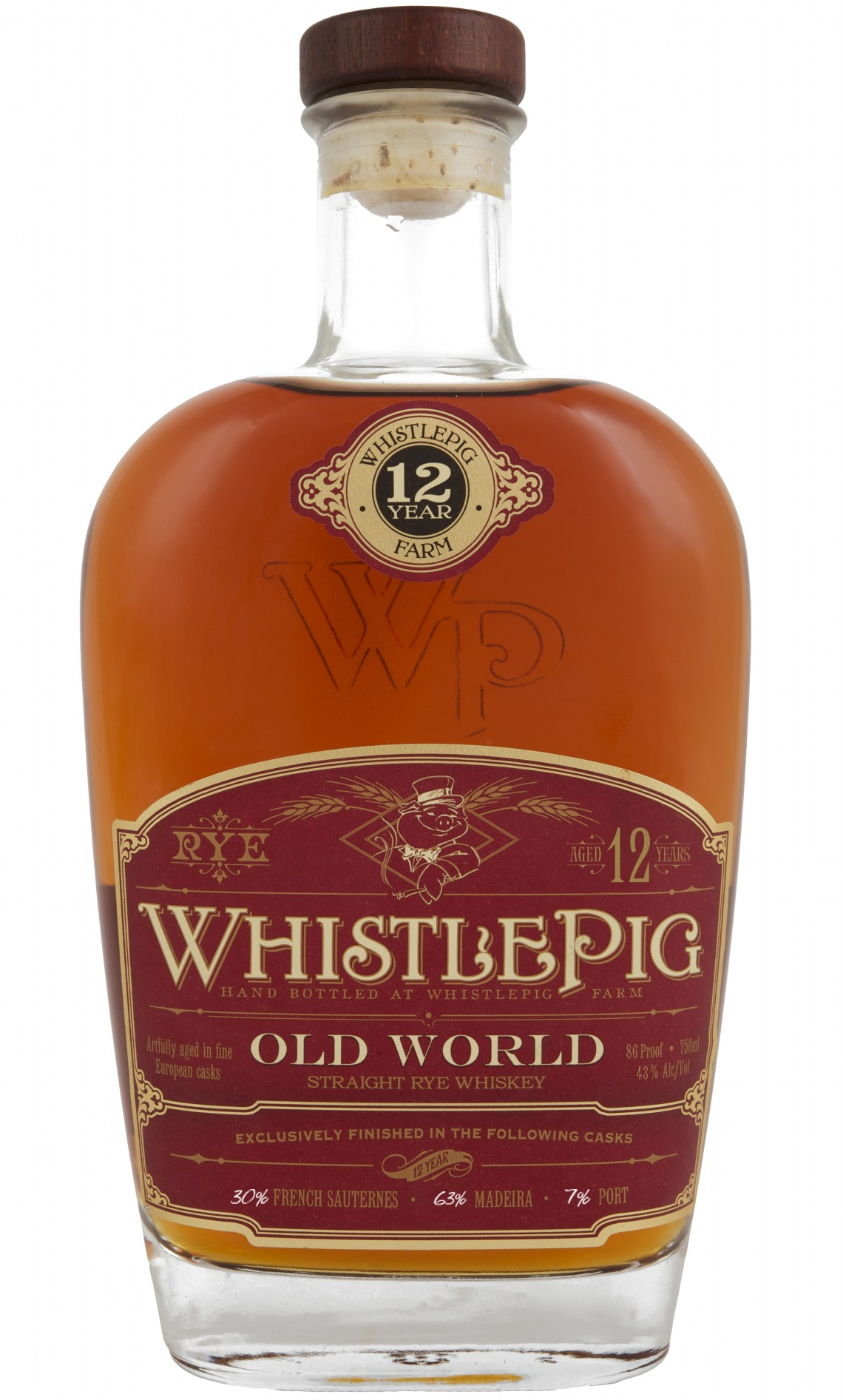 "WhistlePig ""Old World"" Rye Whiskey 12 Years Old 2015"