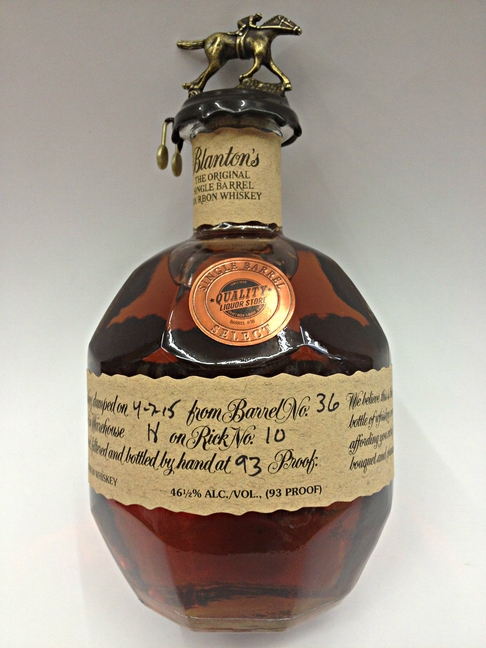 Blanton's Single Barrel Select Private Selection from Quality Liquor Store