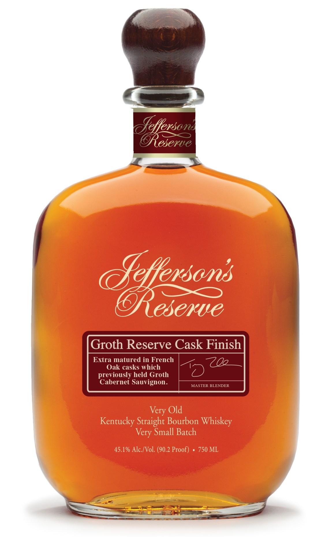 Jefferson's Reserve Groth Reserve Cask Finish Bourbon