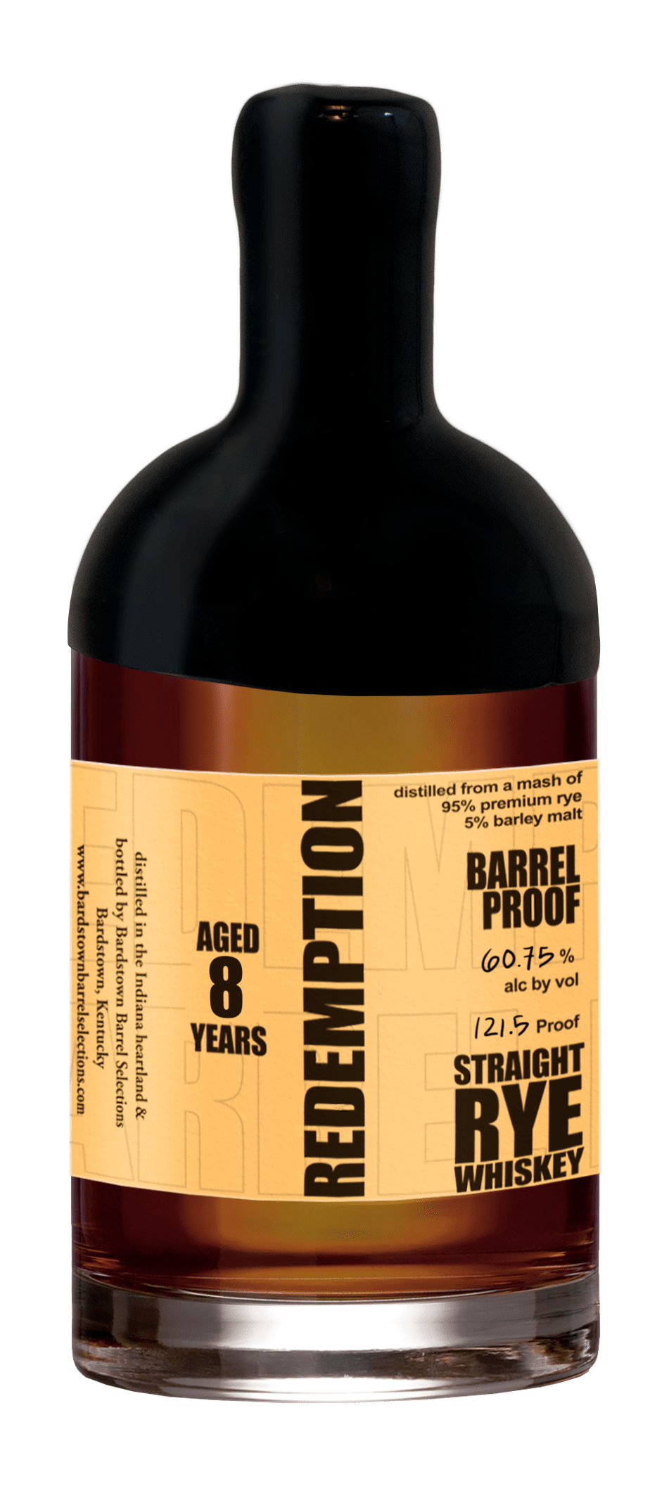 Redemption Aged Barrel Proof Straight Rye 8 Years Old (2015)