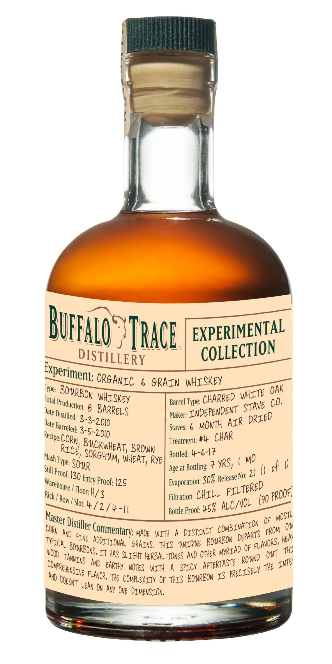 Buffalo Trace Experimental Collection - Organic 6 Grain Whiskey