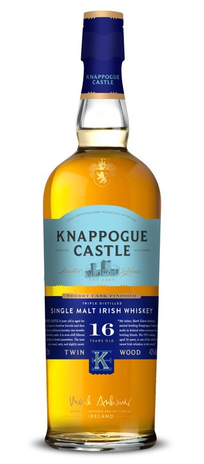 Knappogue Castle Twin Wood Single Malt Irish Whiskey 16 Years Old (2017)