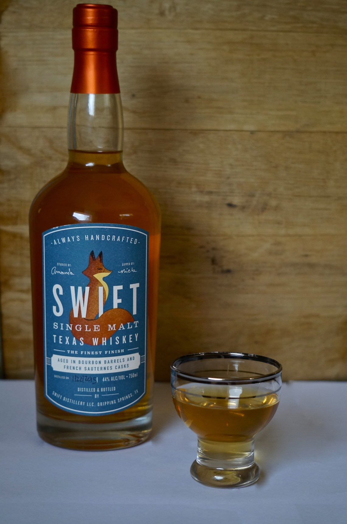Swift Single Malt Texas Whiskey Sauternes Finish