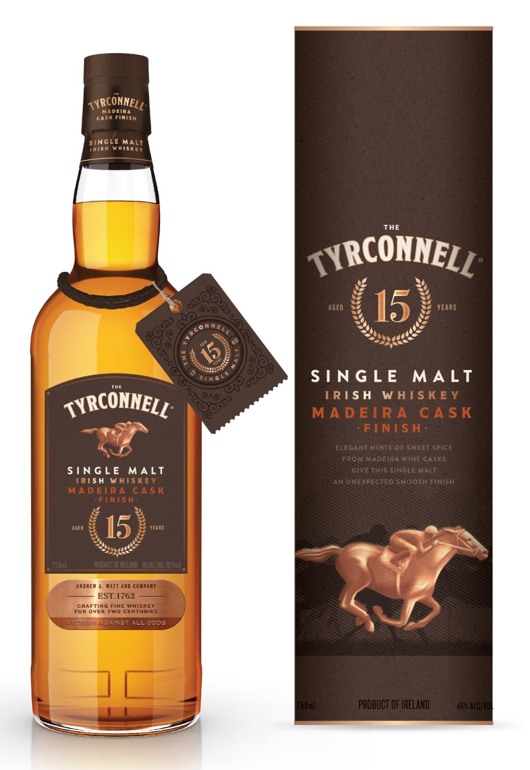 The Tyrconnell Single Malt Irish Whiskey Madeira Cask Finish 15 Years Old
