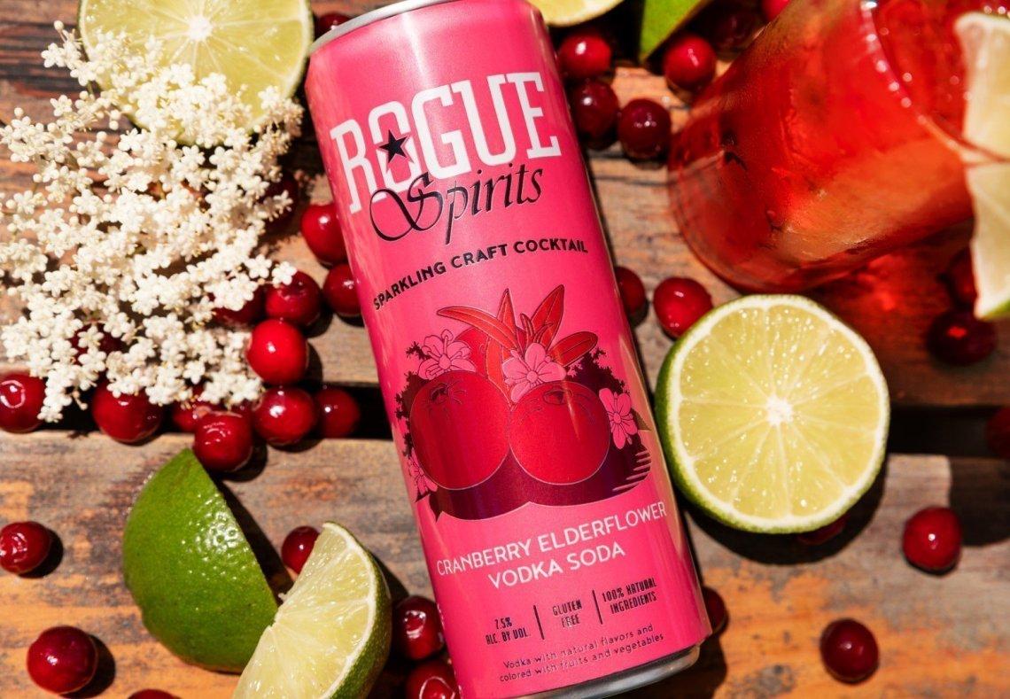 Rogue Cranberry Elderflower Vodka Soda