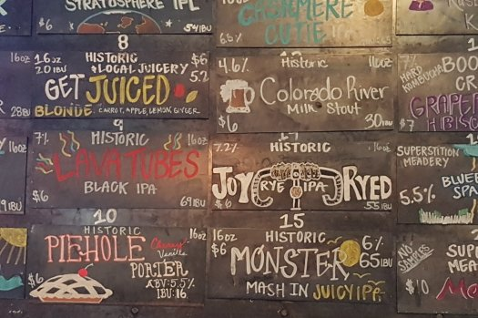 The Choice at Historic Brewing's Downtown Location in Flagstaff, Arizona