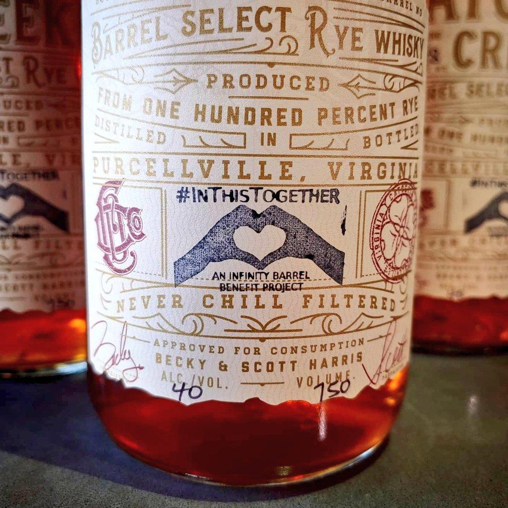 Catoctin Creek Infinity Barrel #InThisTogether Rye