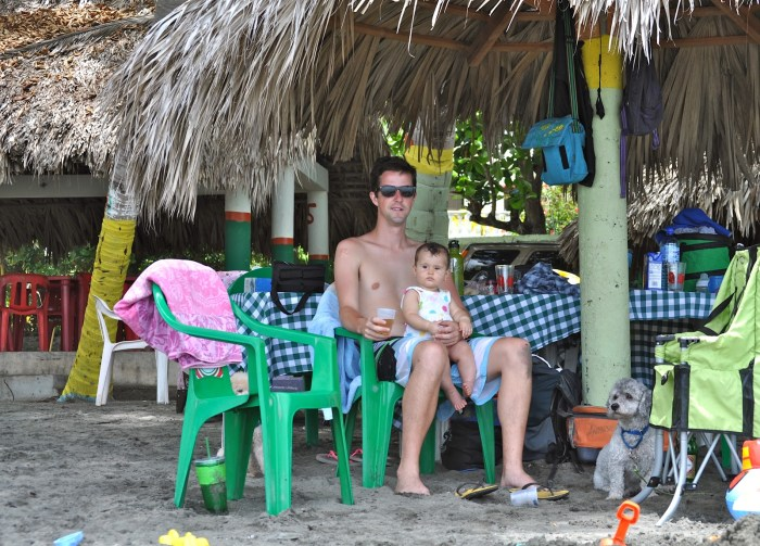 Hanging at Playa Palenque