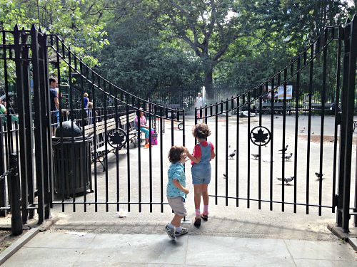 Washington Square Park Playground Entrance