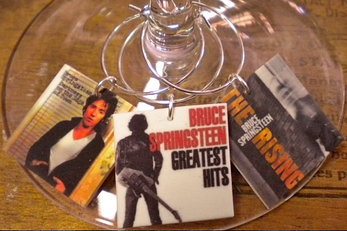 Bruce Springsteen Wine Charms