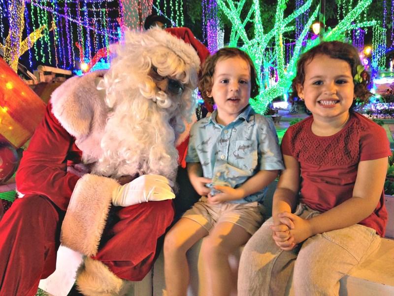 Brillante Navidad Santa