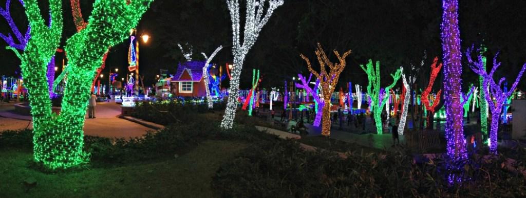 Parque de Luces Brillante Navidad