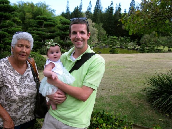 Rafaella and Mike with Nana