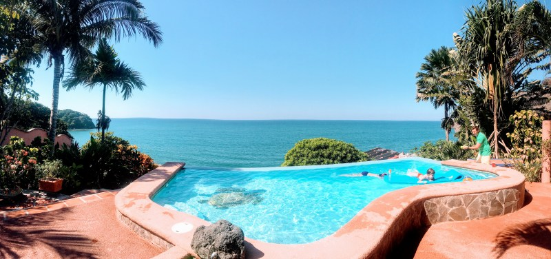 sweet pool overlooking the Pacific