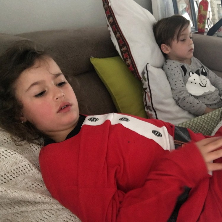 at home with the flu