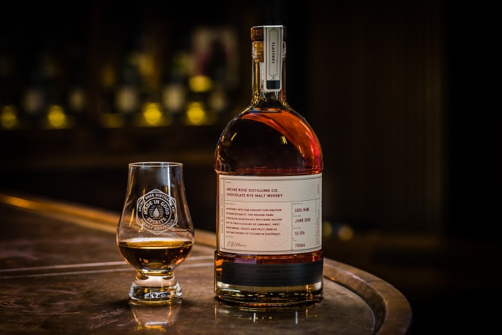 Archie Rose Chocolate Rye Malt Whisky, the Sydney distiller's hotly anticipated first whisky release