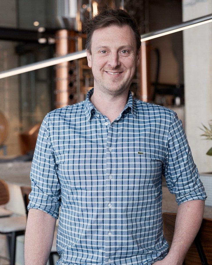 James Christopher, co-founder of Brix Distillers, a rum distillery in Surry Hills