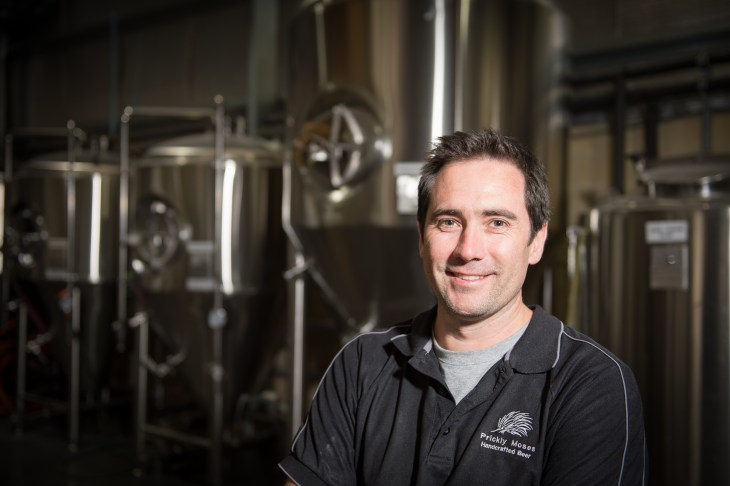 Prickly Moses Brewery head brewer Luke Scott, who has collaborated with McWilliam's Wines Scott McWilliam on the Chardonnay IPA