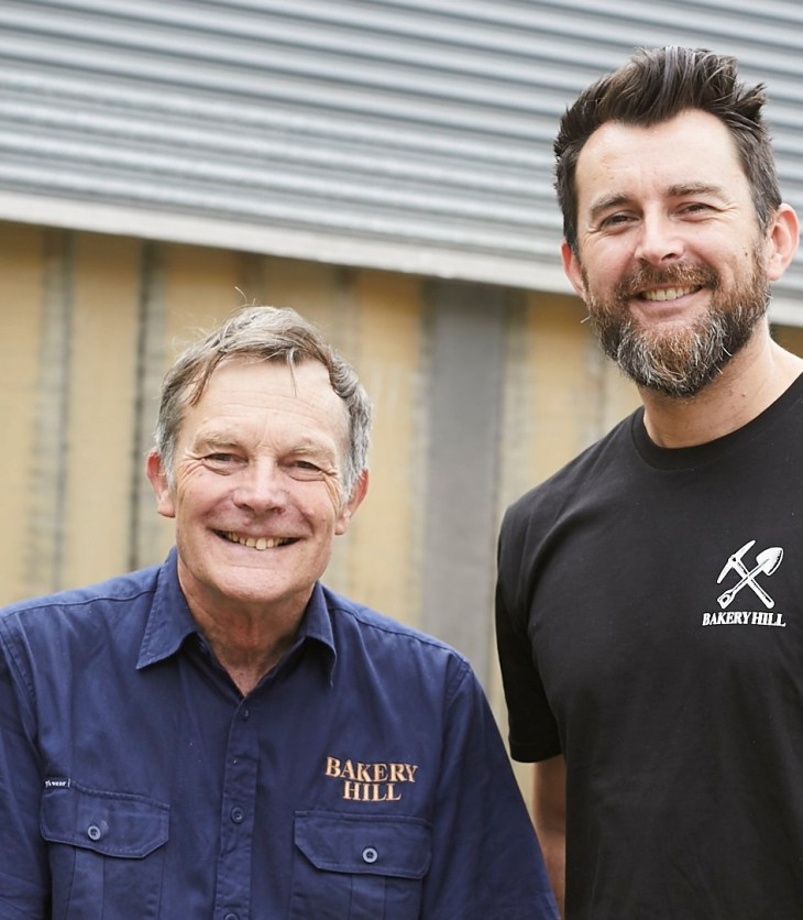 David and Andrew Baker of Australian whisky pioneer Bakery Hill Distillery