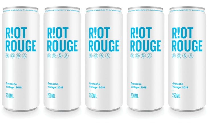 Riot Wine Co canned grenache wine Riot Rouge