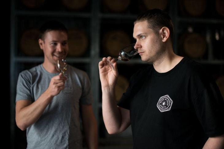 Will Edwards and Dave Withers of Archie Rose whisky distillery