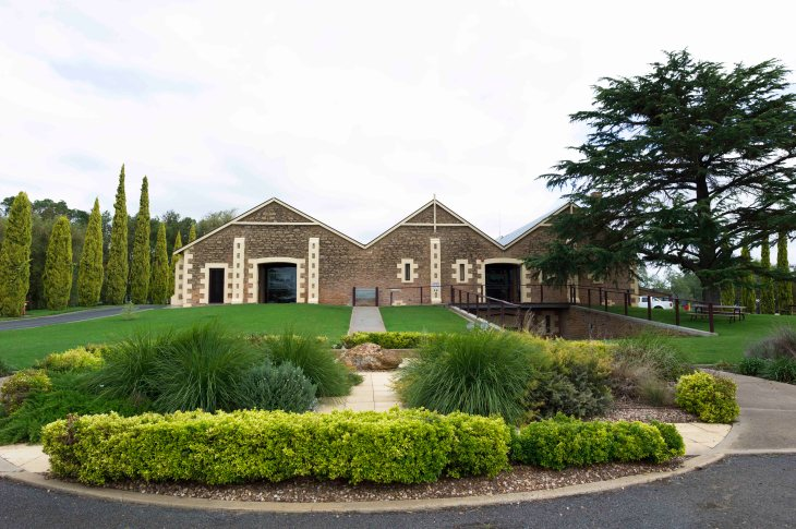 The heritage-listed winery and its famous gables at Wynns Coonawarra Estate