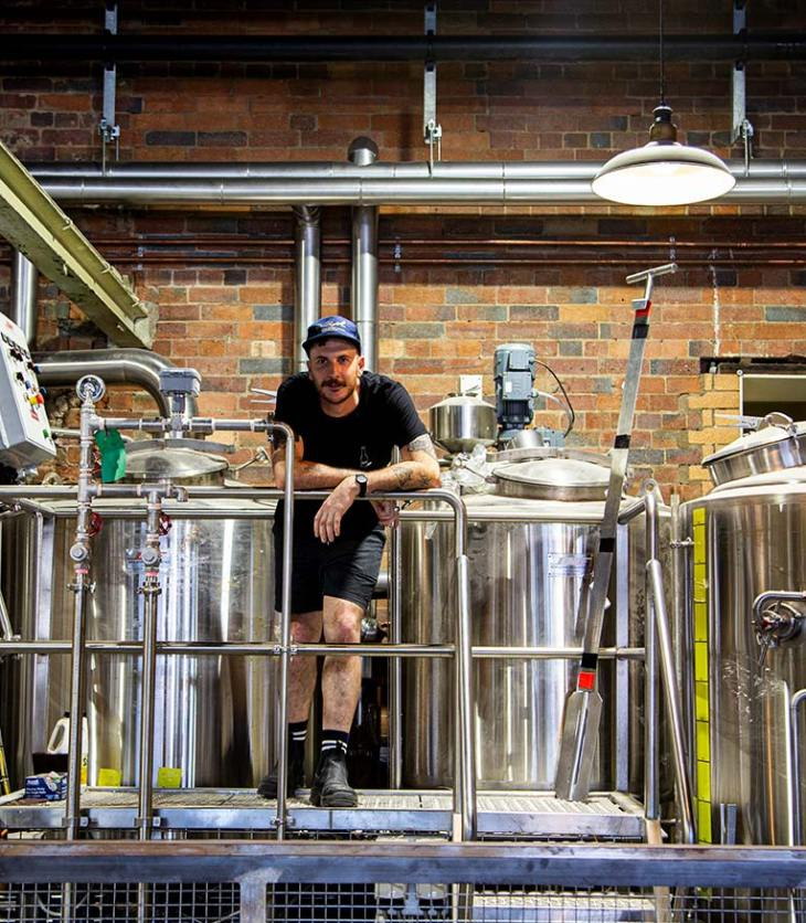 Stone & Wood Brisbane's resident brewer, Macca