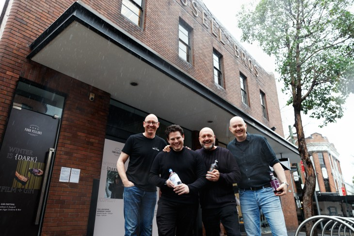 The Four Pillars Gin team outside the Four Pillars Laboratory
