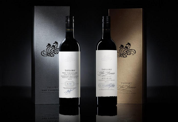 Taylors The Visionary Cabernet and The Pioneer Shiraz 2014