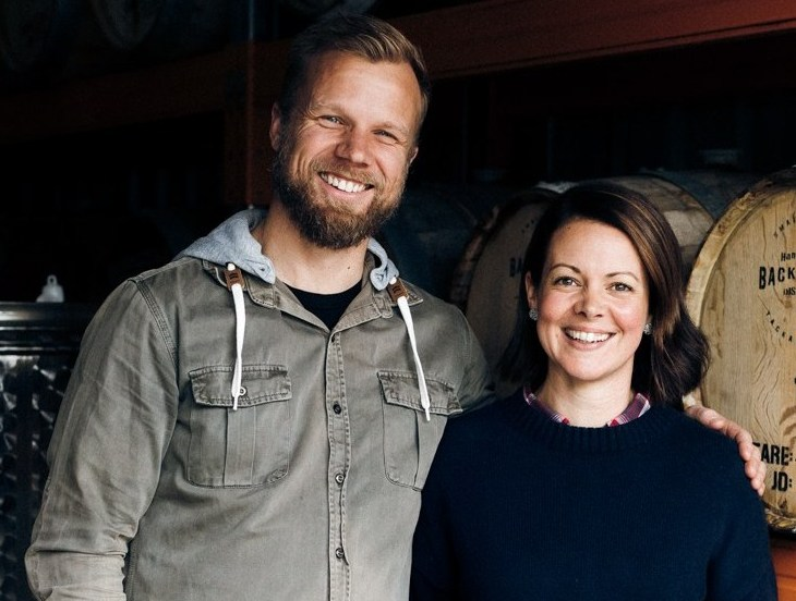Backwoods Distilling founders Leigh Attwood and Bree Attwood