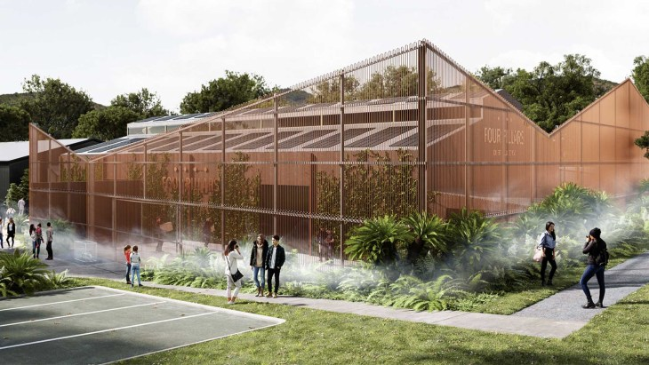 An artist's render of the Four Pillars Gin distillery, Healesville, following its $6 million redevelopment