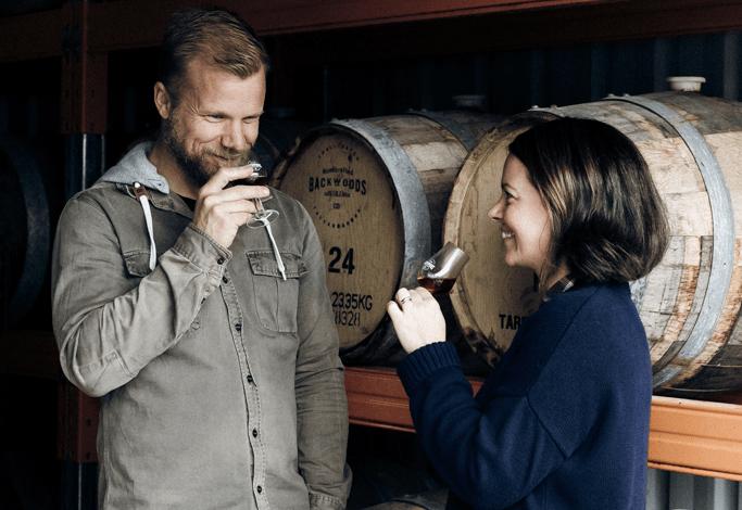 Leigh Attwood and Bree Attwood of Backwoods Distilling, Yackandandah