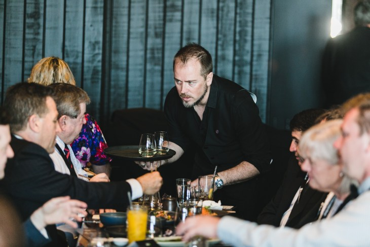 Sommelier Wayne Shennen, who opened the sake and wine bar Rangitoto Tokyo in 2019
