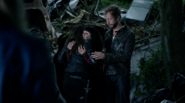 Bo and  Kenzi hug in The Kenzi Scale