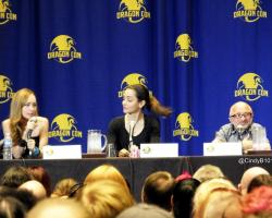 Rick Howland Ksenia Solo and Emmanuelle Vaugier at Dragon Con 2014