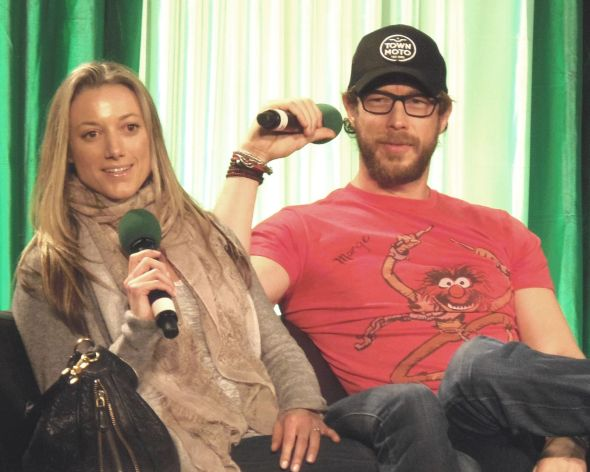 Kris Holden-Ried and Zoie Palmer at ECCC 2014