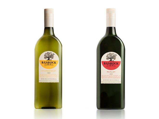 Banrock Station flat wine bottle