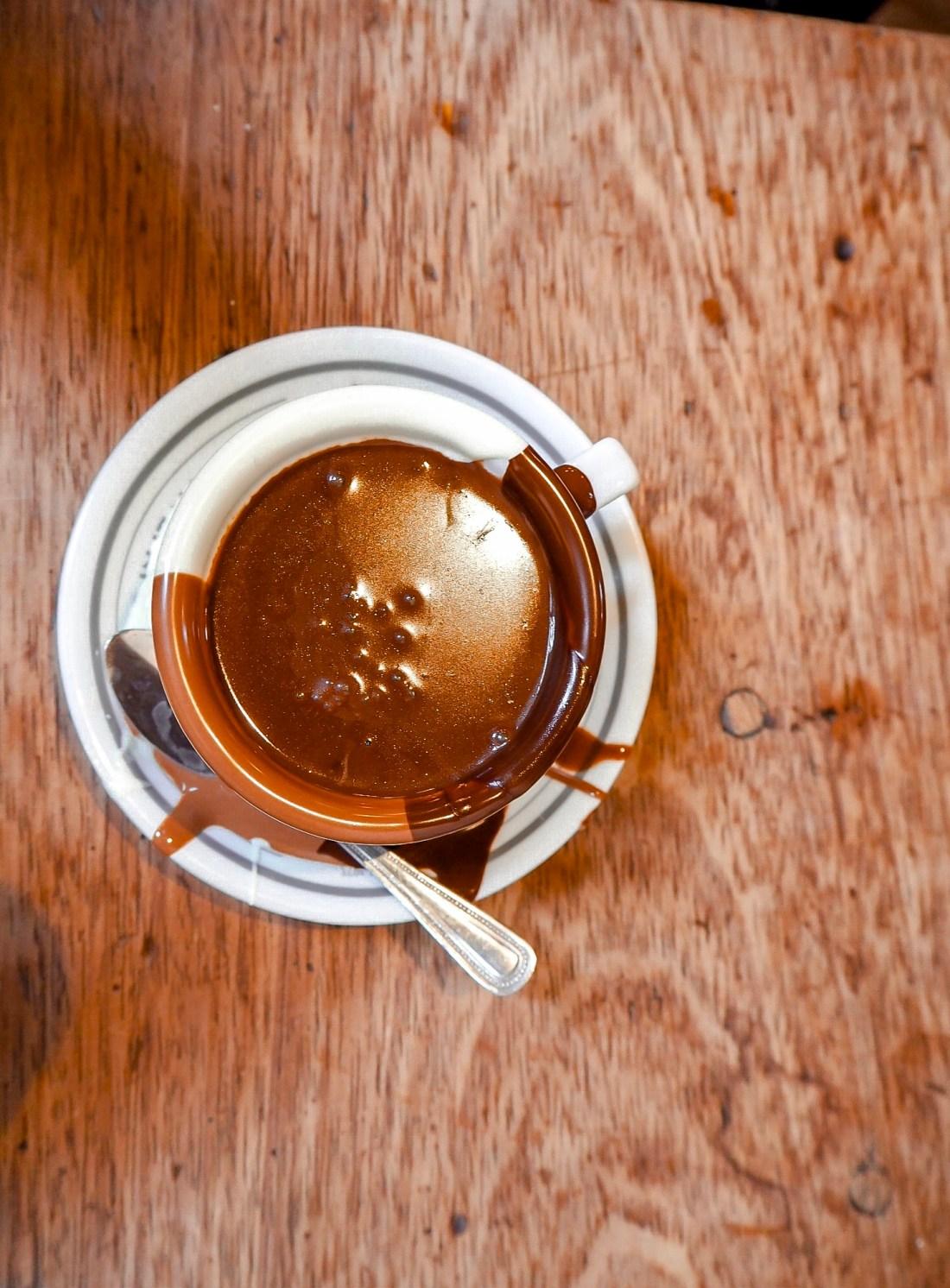 Shiny hot chocolate at Said london
