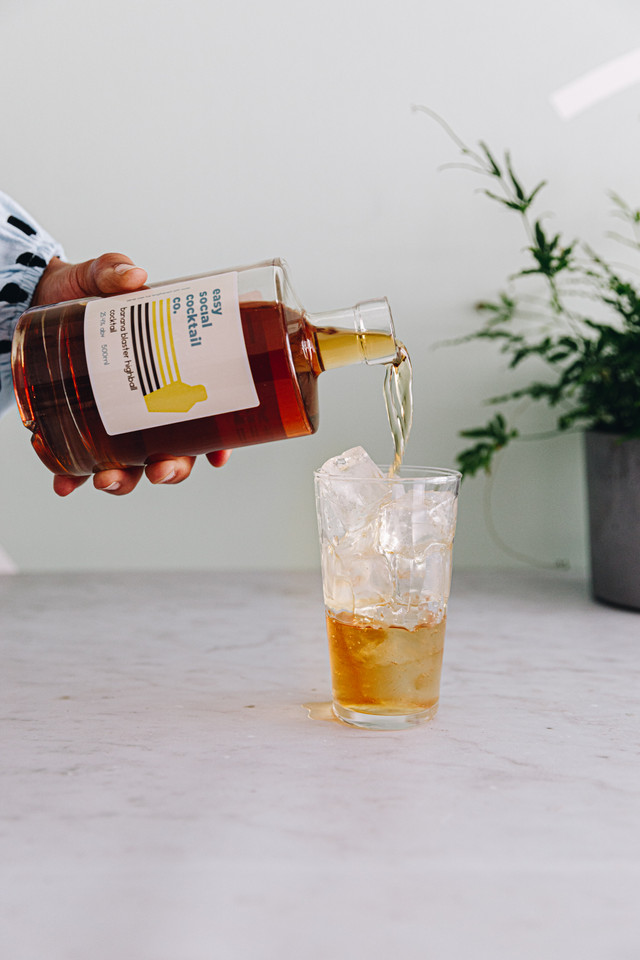 easy social cocktail co banana blaster highball