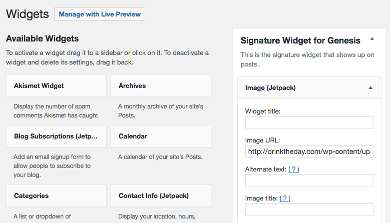Add a Custom Blog Post Signature