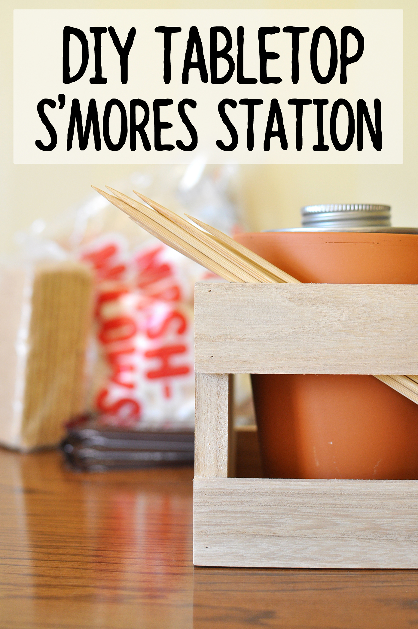 DIY Tabletop S'mores Station | Drink the Day