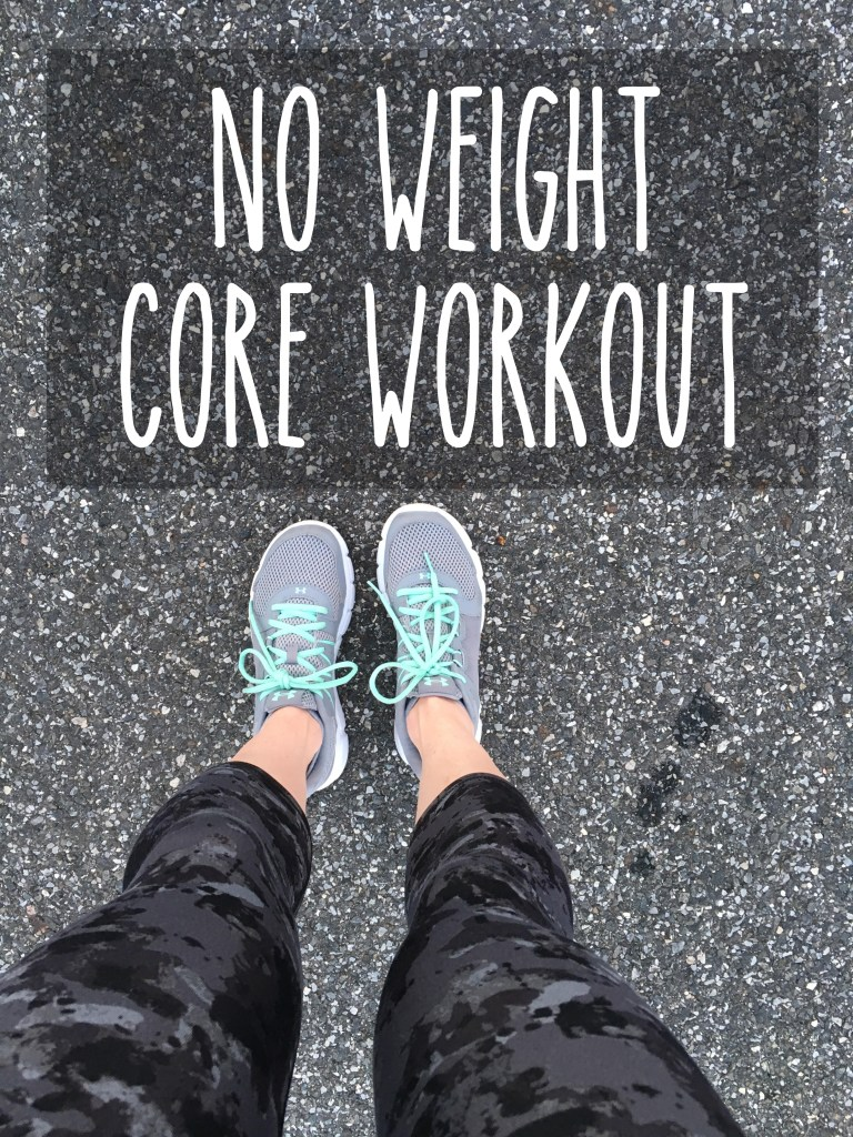 No-Weight Core Workout Circuit | Drink the Day