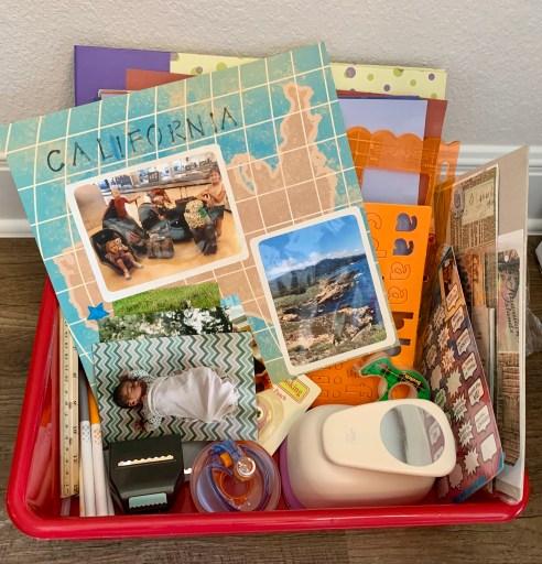 Scrapbooking kit for kids