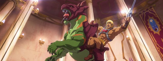 He-Man and Battle Cat from Masters of the Universe Revalation
