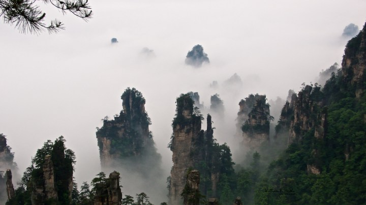 Walking through the Tianzi Mountains
