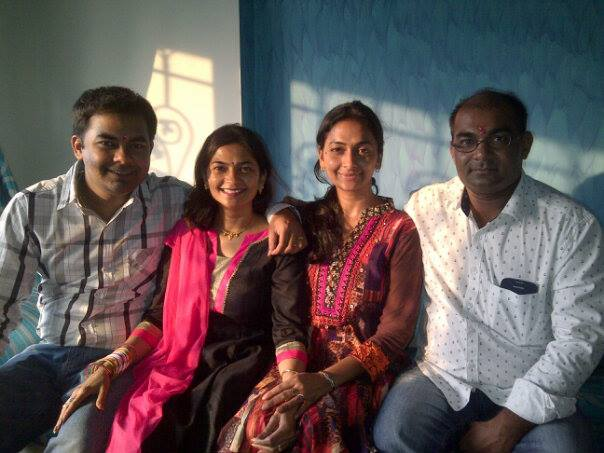 Four of us on Rakshabandhan two years back