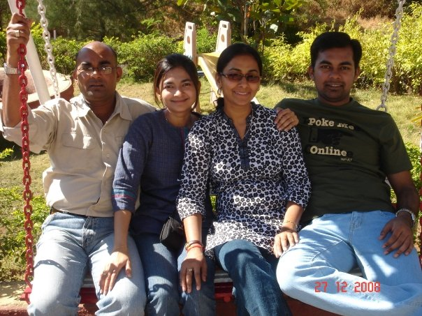 Four of us during our Igatpuri vacation