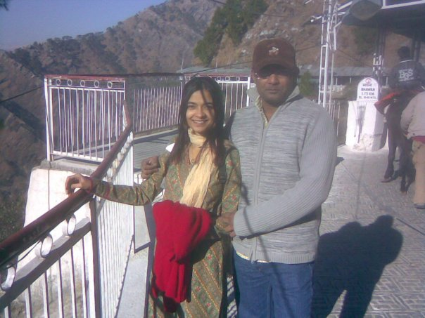 Monty and I at Vaishnodevi