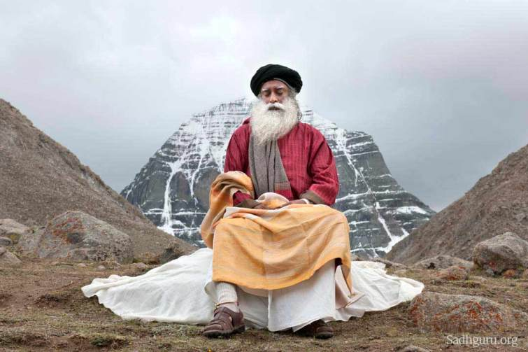 Sadhguru at Kailash (courtesy: Sadhguru.org)