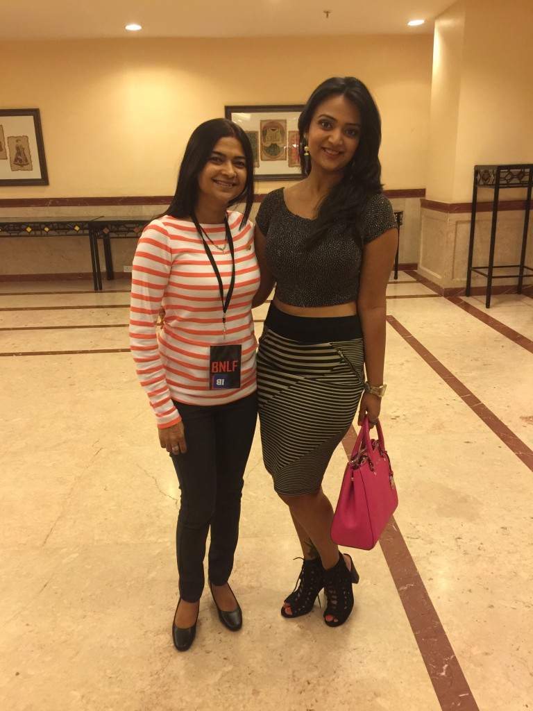 With attractive Ananya